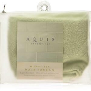 Aquis Microfiber Hair Turban- Celadon