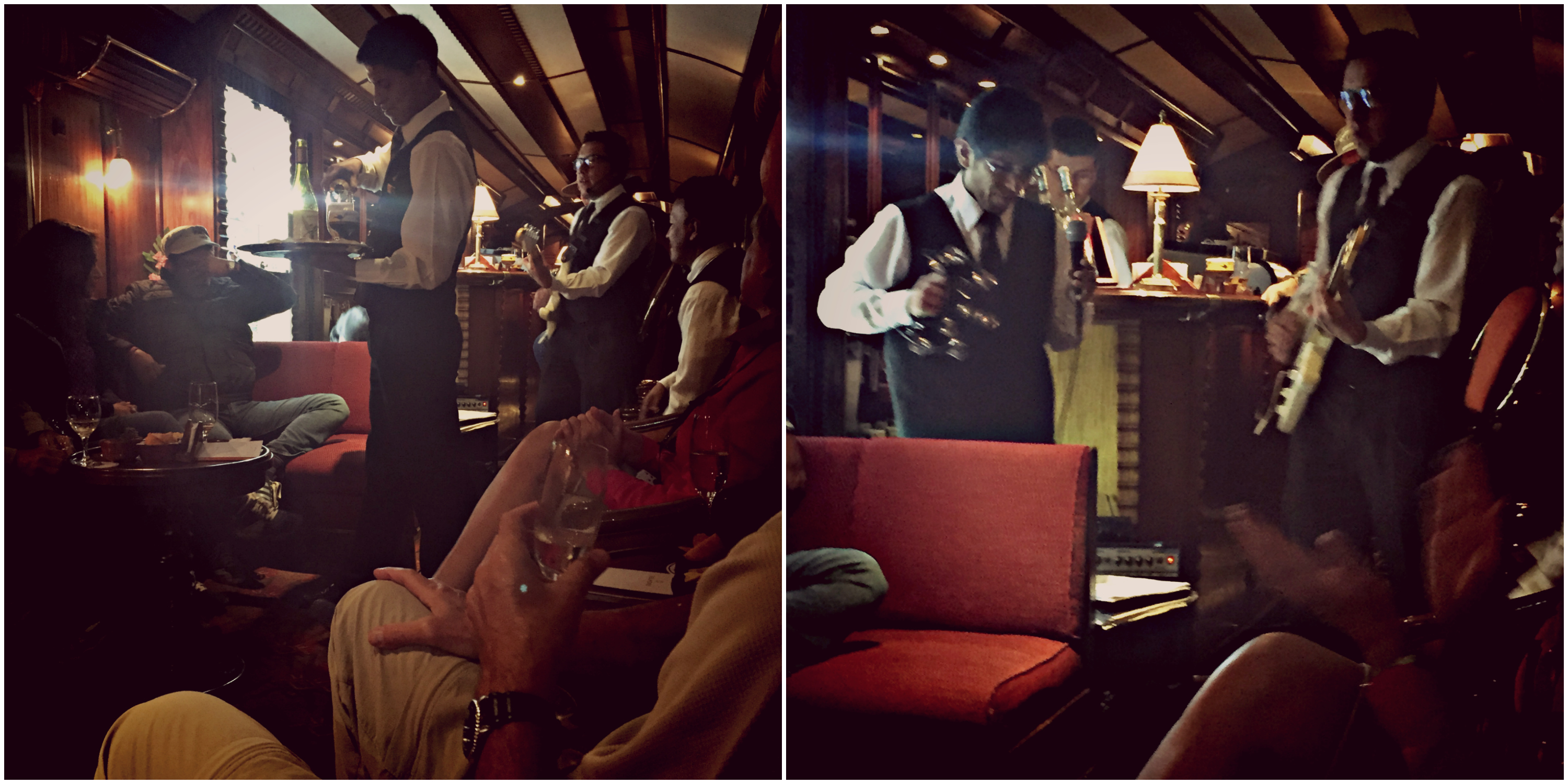 The bar car was lively and fun! Great music, great people!