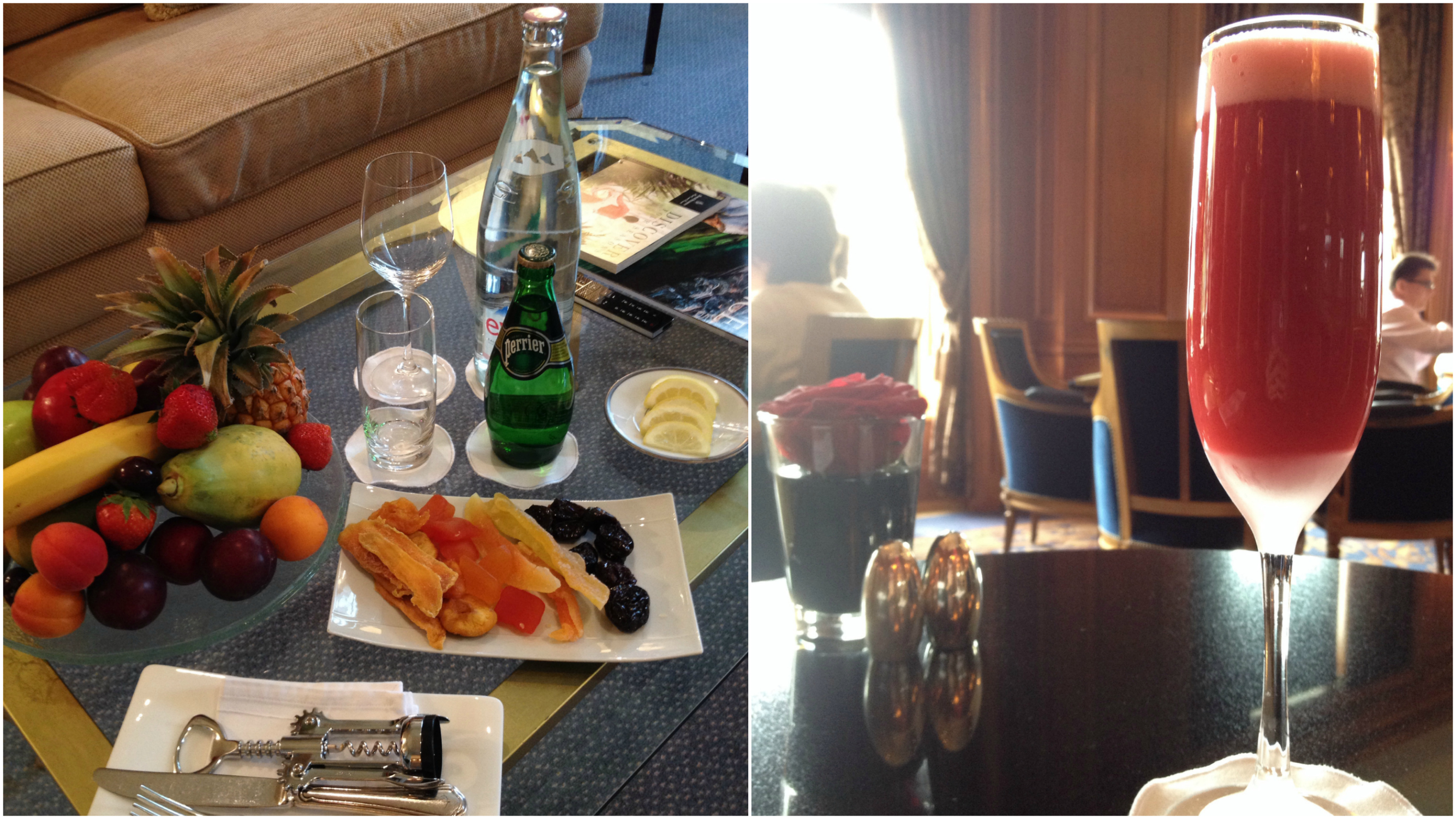 A treat in the suite and a light cocktail in the lounge!
