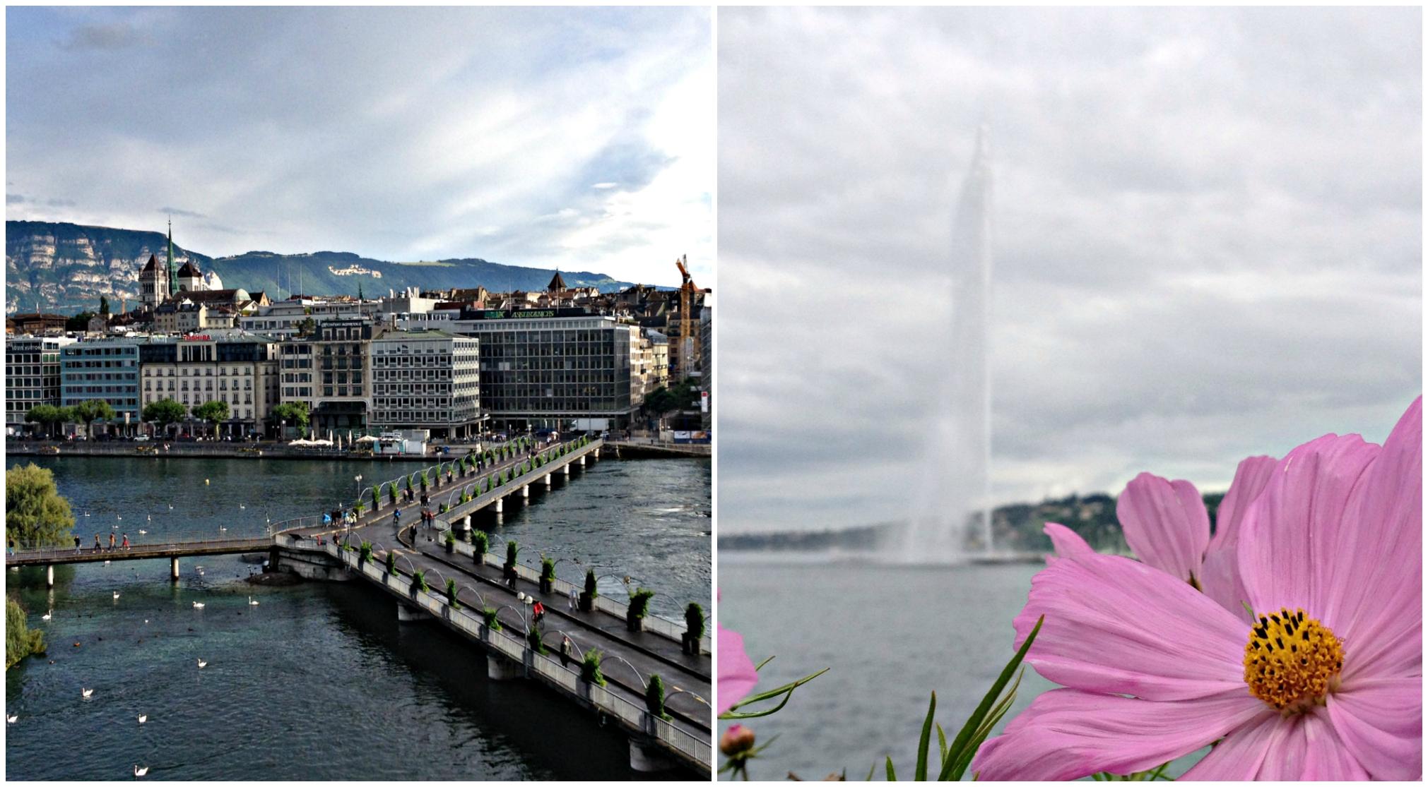 Lake Geneva and Jet d'Eau!