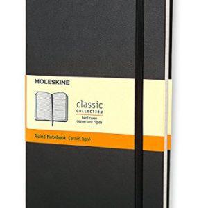 Moleskine-Classic-Notebook-Large-Ruled-Black-Hard-Cover-5-x-825-Classic-Notebooks-0
