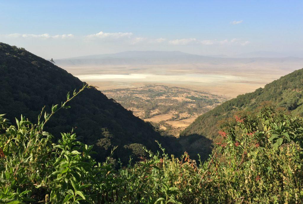 Leaving the Ngorongoro Crater