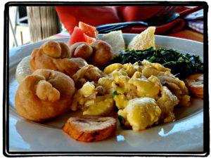 Traditional Jamaican breakfast