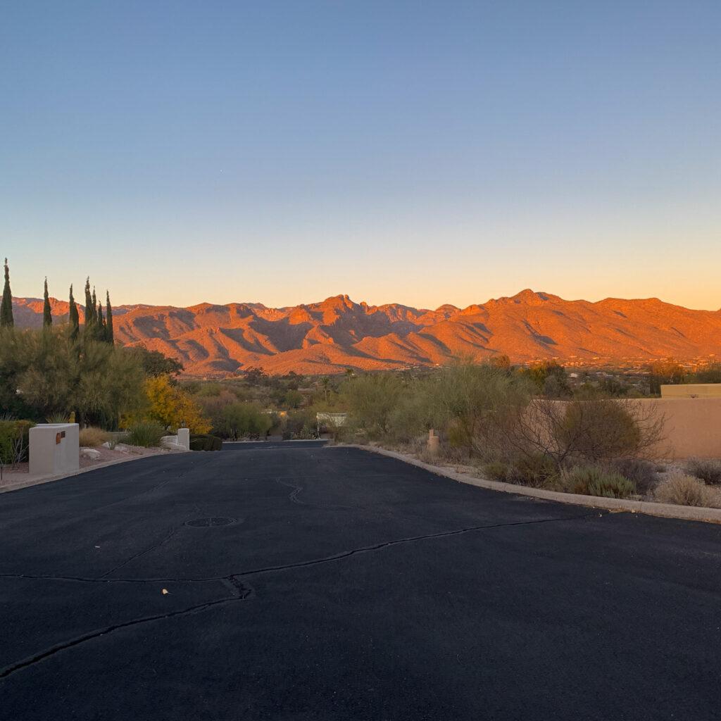 Canyon Ranch Tucson Neighborhood Sunset
